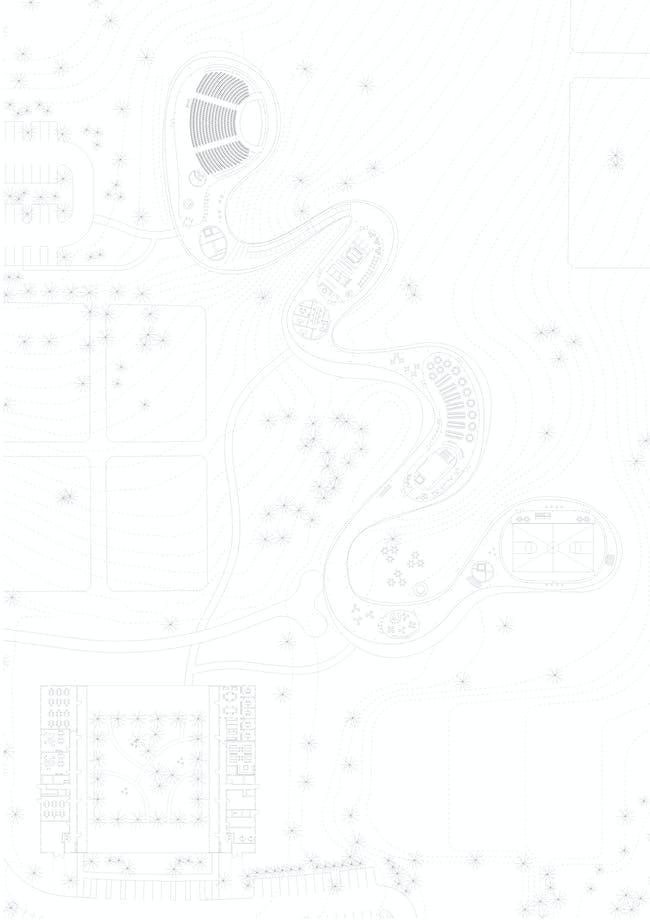 Grace Farms - Building plan. Photo courtesy of 2014/2015 MCHAP.