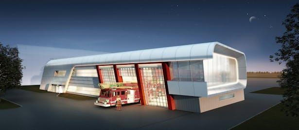 Firestation / Ding Shu General Airport, Yixing Dushu, China / Cordogan Clark & Associates with Hanson