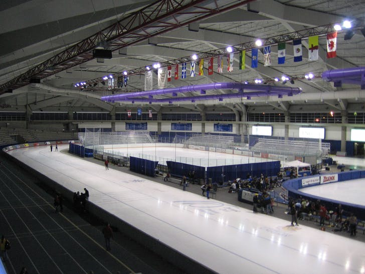 Inside the Utah Olympic Oval. Photo: Wikipedia.