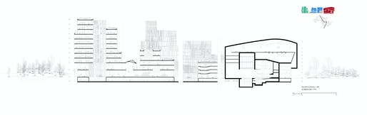 Shenzhen Conservatory of Music, section. Image: Miralles Tagliabue EMBT.