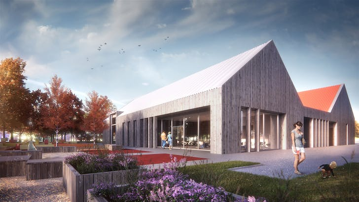 Tayport Community Hub rendering, courtesy of Collective Architecture.