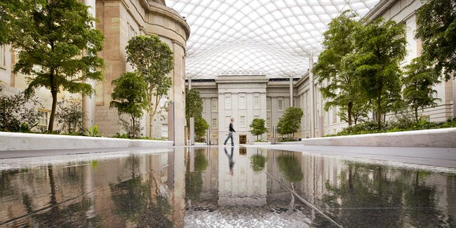 Robert and Arlene Kogod Courtyard at the Smithsonian American Art Museum and National Portrait Gallery in Washington, DC by GUSTAFSON GUTHRIE NICHOL (image credit: Nigel Young, Foster+Partners)