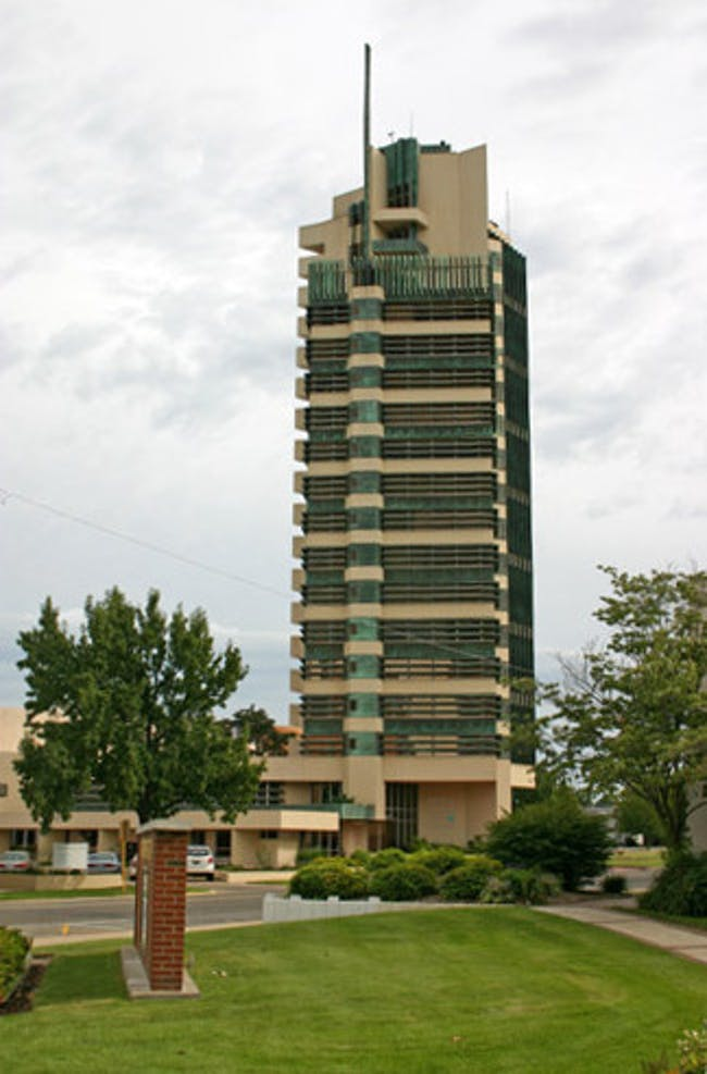 Price Tower in Oklahoma. Credit: Wikipedia