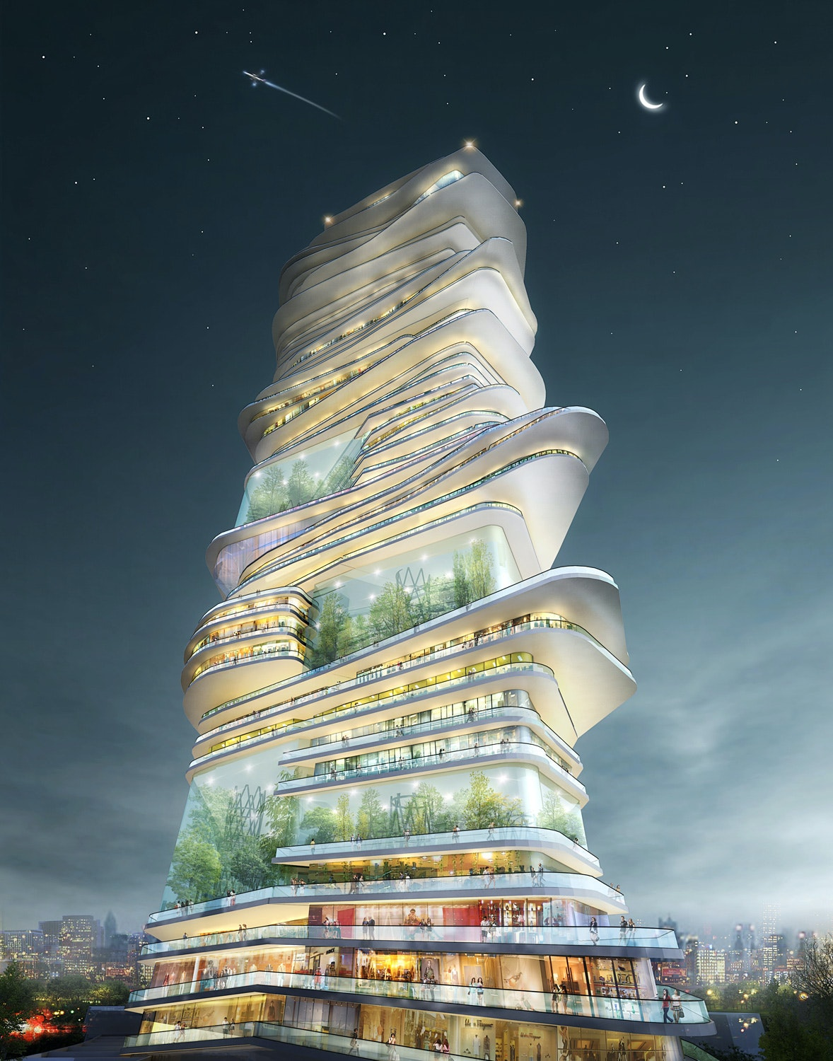 """SURE Architecture's winning """"Endless City"""" skyscraper proposal for the streets of London"""