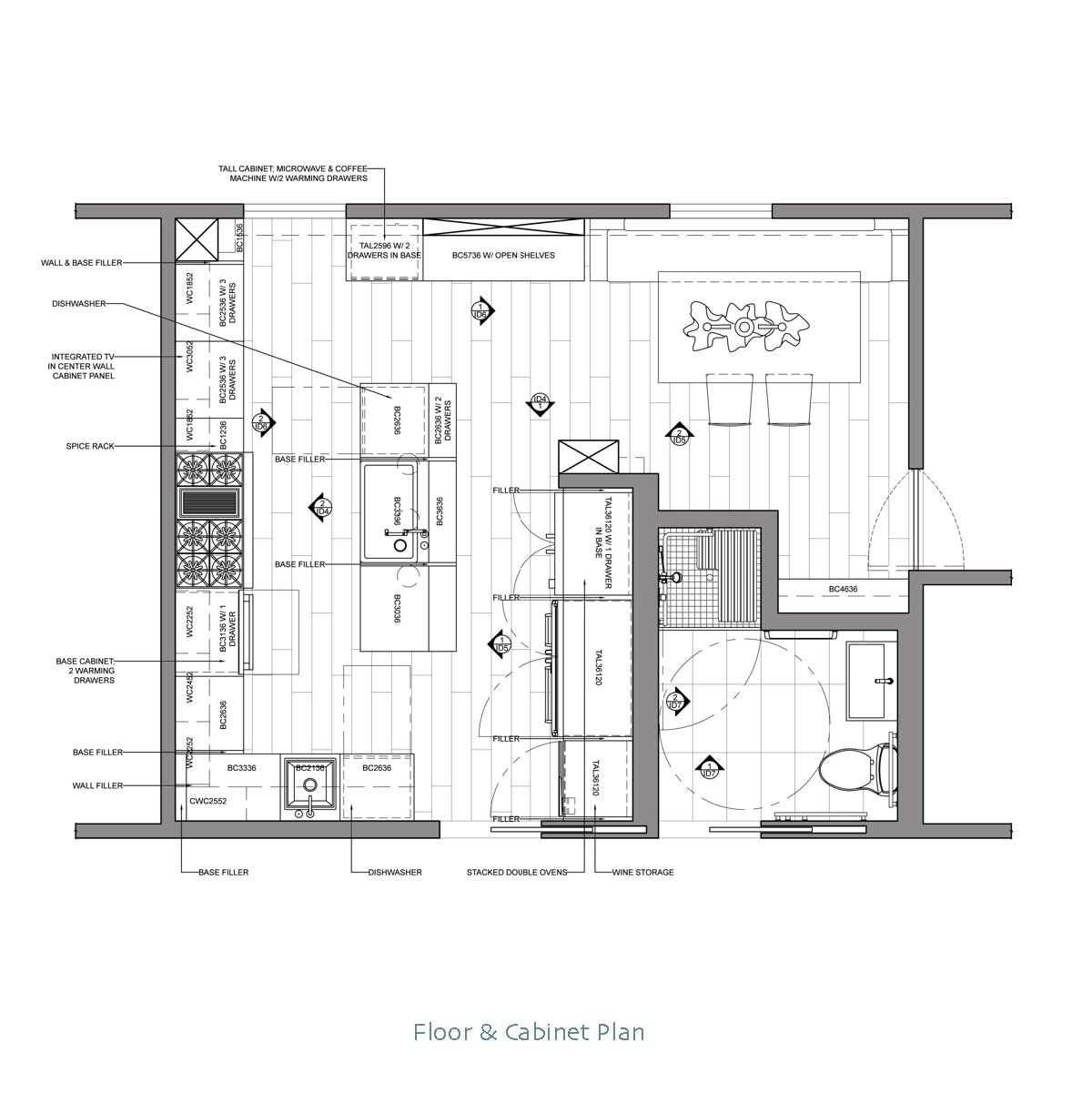 Kitchen Cabinets Design Drawings: Chef's Kitchen