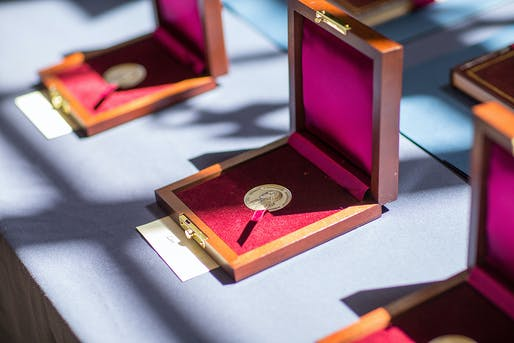 Thomas Jefferson Foundation Medals. Photo: Sanjay Suchak, University Communications.