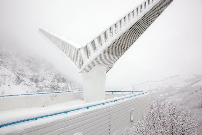 Ostalgia Almaty Kazakhstan Gazebo at the Center for Winter Sports Medeo 2010 ©Simona Rota