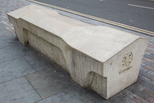 'Resilient, obstinately practical, and supposedly crime-proof' by design: the Camden Bench. (Image: Wikipedia)