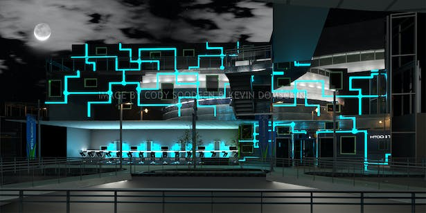 Ship Restaurant and Bar based off Circuit Board