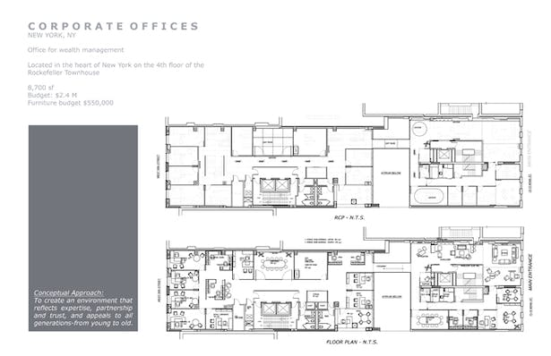 RCP and furniture plan