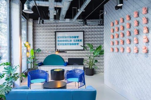Hotels winner: TSH Campus Barcelona by The Student Hotel Experience Design Team. Image credit: Luis Beltran.