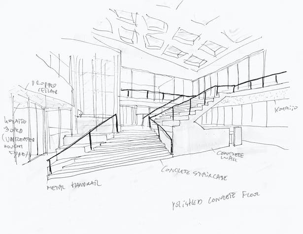Sketch of staircase