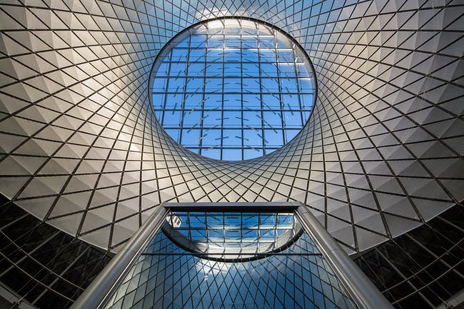 COMPLETED BUILDINGS - Transport winner: Fulton Center | USA . Designed by Grimshaw / Arup / James Carpenter / HDR / Page Ayres Cowley.