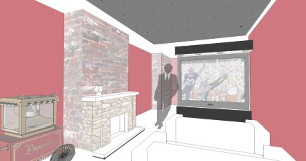 Home Theater SketchUp Render