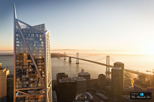 181 Fremont Street Penthouse Tower by Heller Manus Architects, located in Sanfracisco. Image: Heller Manus Architects.