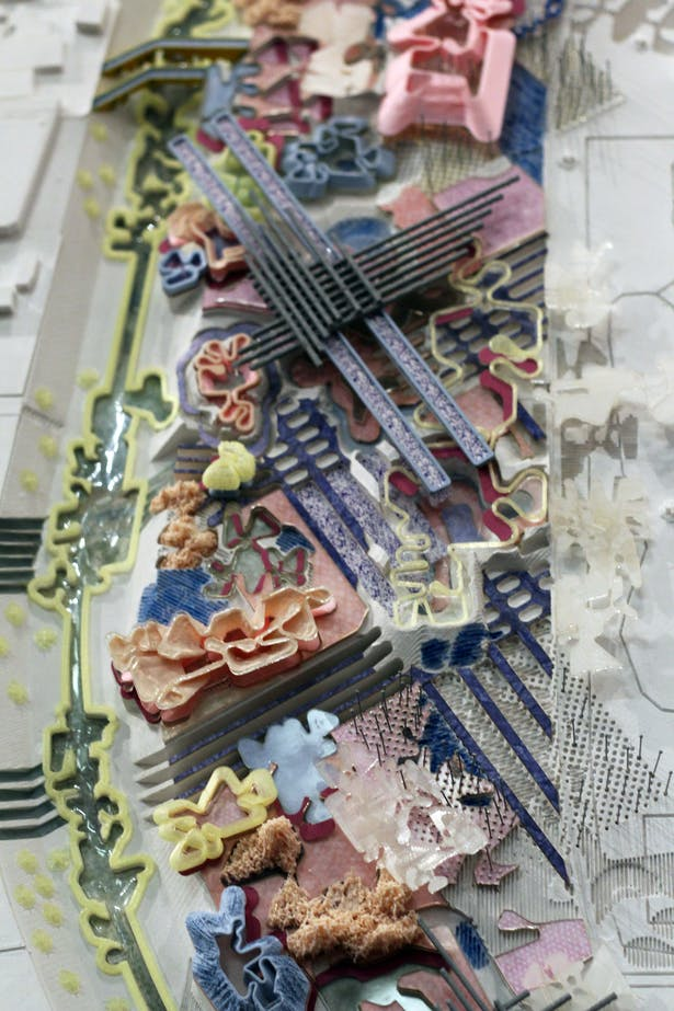 Physical model representing fake and real ecological conditions
