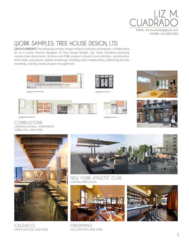 Work Samples - Tree House Design (Page 2/2)