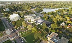 Steel-frame construction tops out for OMA's Albright-Knox museum expansion
