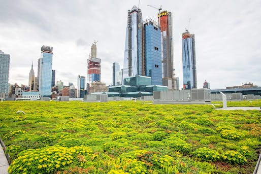 Measuring 6.75 acres, the expansive green roof capping the Jacob K. Javits Convention Center in Manhattan is the second largest of its kind in the United States. Image: Javits Center/Facebook