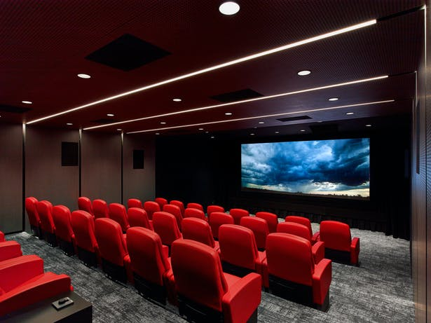 Screening room.
