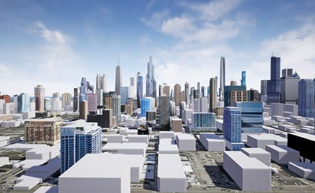 Converting my 3D model of Chicago into VR