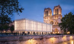 Charred timber pavilion proposed as temporary Notre Dame replacement