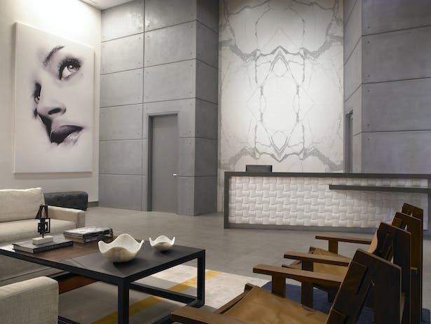 Solitair Brickell Lobby - Interior Design by Stantec