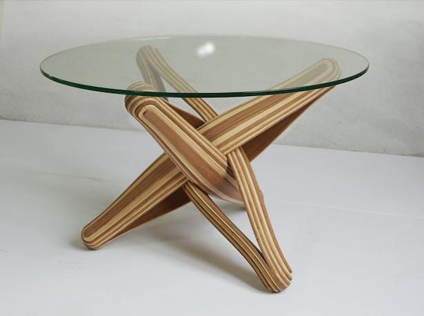 LOCK-coffee bamboo coffee table