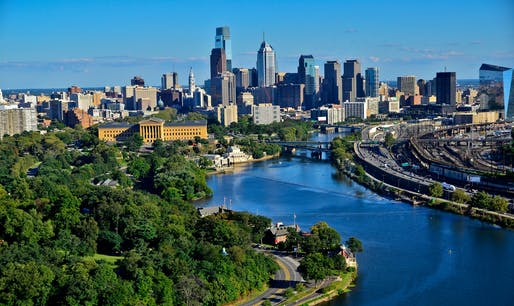 Philadelphia skyline, via philadelphiaift.org.