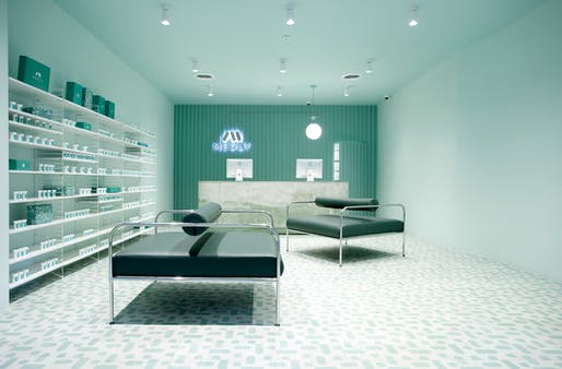 Medly pharmacy designed by Sergio Mannino Studio, located in Brooklyn. Image: ​Sergio Mannino Studio​.