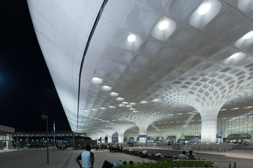 The SOM-designed Terminal 2 at Chhatrapati Shivaji International Airport in Mumbai, India. Photo: Chris Hoare/Flickr