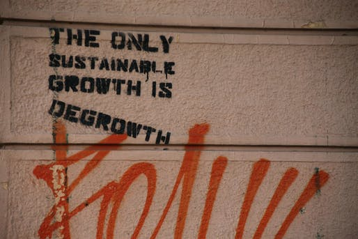 The only sustainable growth is degrowth. Image courtesy of Wikimedia user Paul Sableman.