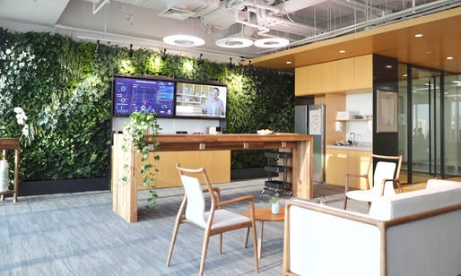 A test office space in Well Living Lab, Beijing. Photo: Delos, via The Guardian.