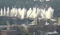 Genoa blows up remaining Morandi Bridge to make way for Renzo Piano's replacement