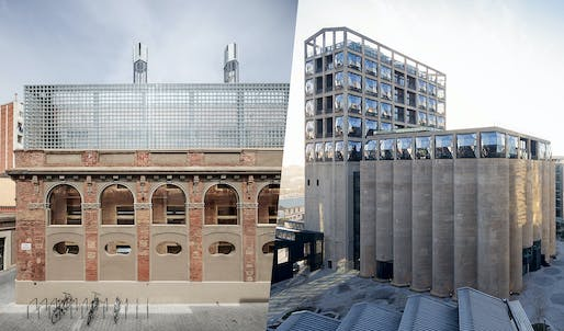 Joint winners: Civic Centre Cristalleries Planell in Barcelona and the Zeitz Mocaa, Museum of Contemporary African Art​ in Cape Town​. Photos: Adrià Goula, Iwan Baan.