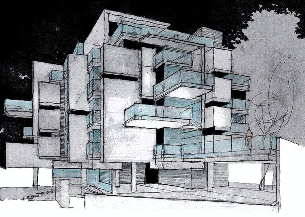 Sketch of the building
