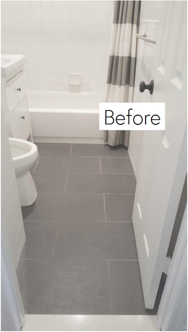 Basic bathroom gets a facelift.