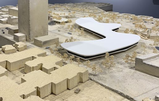 Architectural model of the Zumthor-revamped LACMA Campus on display at the museum. Photo: Shane Reiner-Roth.