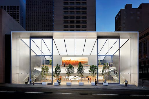 Apple Union Square. Structural Designer: Simpson Gumpertz & Heger Inc. and Foster + Partners. Architect: Foster + Partners. Image courtesy of 2017 Structural Awards.