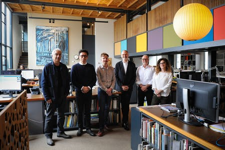 Leadership team at Frederick Fisher and Partners. Photo by Amanda Ortland © Archinect