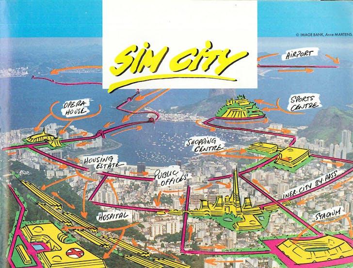 SimCity (1990 / Will Wright / Atari ST) Advertisement, via flickr/Daniel Rehn.