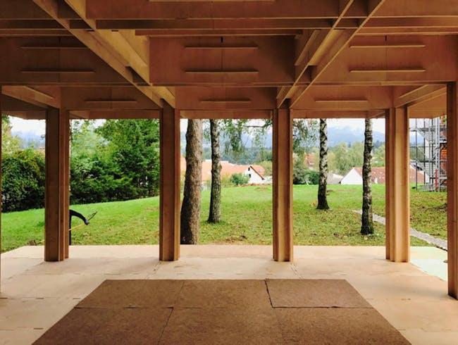 Slovenia Community Pavilion - interior via Will Galloway via Will Galloway