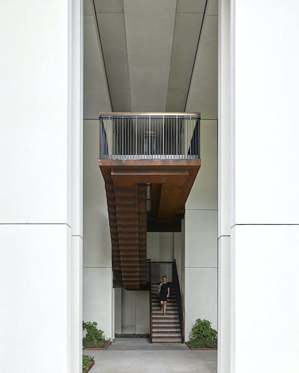 Stairs to walkways