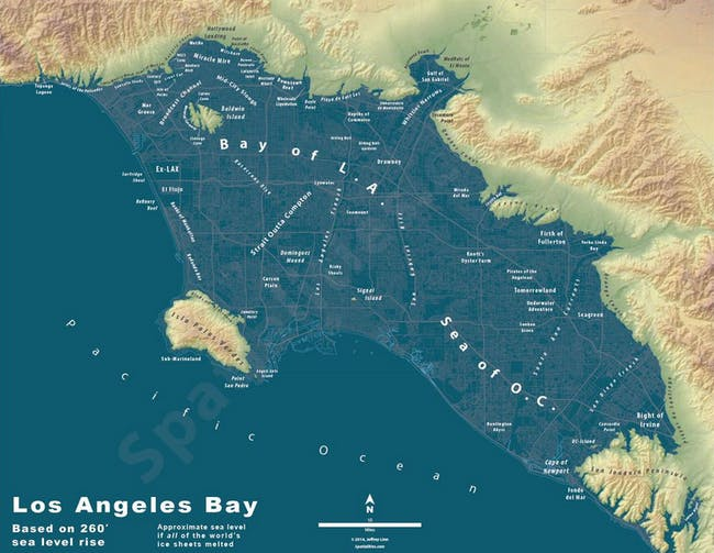 Los Angeles imagined as a bay. Credit: Jeremy Linn via CityMetric