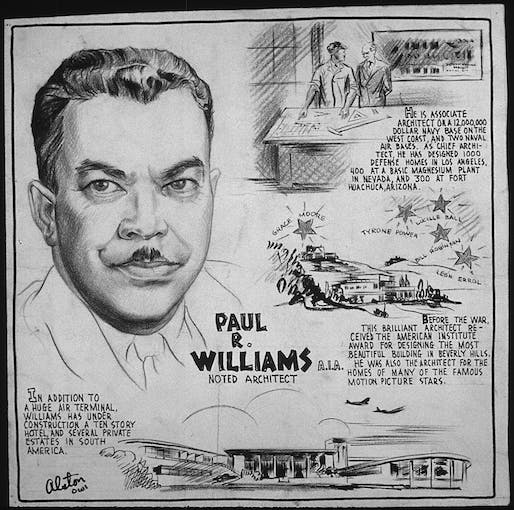 Paul R. Williams, AIA. Drawing by Charles Henry Alston, 1907-1977 (Wikimedia Commons).