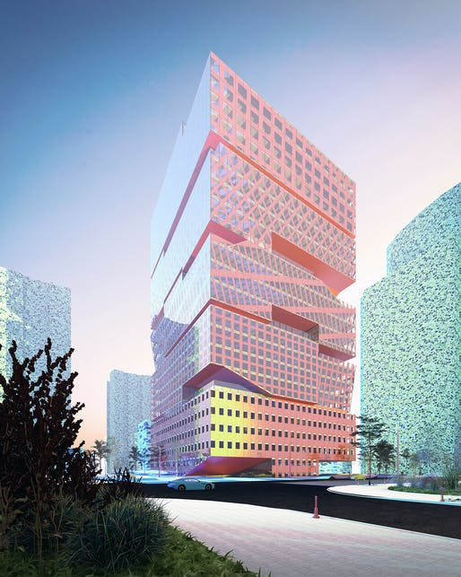 Office Stack by Jennifer Bonner, MALL. Renderings by Glenn Marquardt