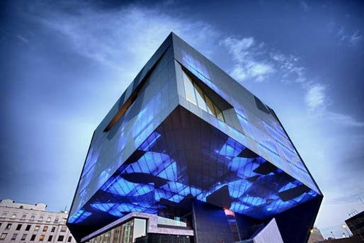 The dramatic new space in the capital of Aragon. Image via theartnewspaper.com