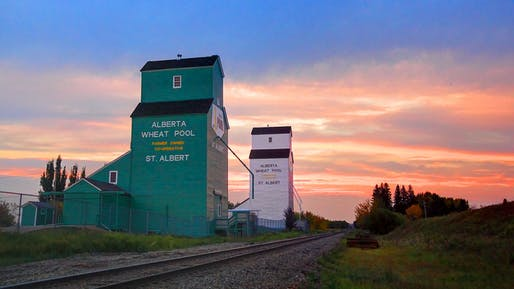 The historic Alberta Wheat Pool Grain Elevator is one of the few lucky ones that were designated as a cultural heritage site in Canada. Photo: Steve Boer