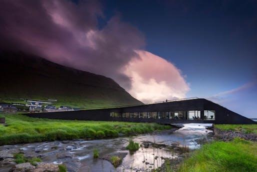 Eystur Town Hall Norðragøta, The Faroe Island by Henning Larsen. Image © Nic Lehoux