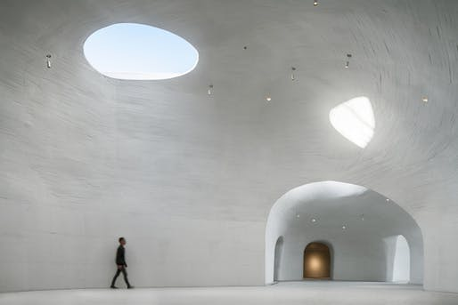 Main Gallery in the UCCA Dune Art Museum by OPEN Architecture. Photo: Wu Qingshan.